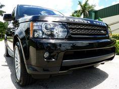 2013 Land Rover Range Rover Sport in Black #LandRoverPalmBeach #LandRover #RangeRover http://www.landroverpalmbeach.com/
