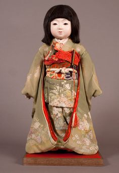 Antique Japanese Dolls - Ichimatsu ningyo by Hirata Goyo