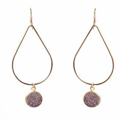 Druzy Jewelry, Druzy Earrings, Monica Mauro