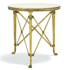 Cannes Gueridon Table, Black - Furniture - Products - Products - Ralph Lauren Home Unique End Tables, Contemporary End Tables, Modern Side Table, Side Tables, Ralph Lauren, Large Furniture, White Furniture, Messing, Home Collections
