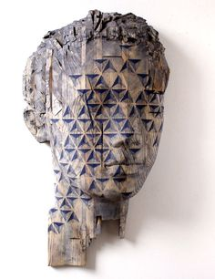 Wouah! I like his work. The way this artist is using wood and geometry is very interesting.  chrisburridge:    nice carved wooden busts with lovely grain and paint.chamber1897Reinhard Voss – die anderen