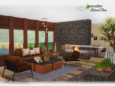 You've requested, we brought it back :) Hope you and your sims enjoy the modern lines and rustic elements of this living room. ^^ by SIMcredibledesigns.com Found in TSR Category 'Sims 4 Living...