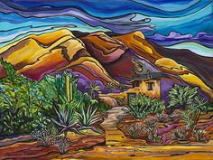"""""""Hidden in the Hills - DeGrazia Mission in the Sun,"""" by Alexandria Winslow"""