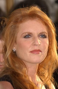 Sarah, Duchess of York. An attractive picture of her. She had done Botox too many times on her mouth.