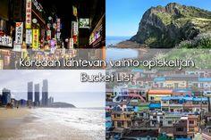 [jennahoo.com] Koreaan lähtevän vaihtarin Bucket List  Lento Koreaan lähestyy päivä päivältä. Listasin asioita, jotka haluan nähdä, tehdä ja kokea Koreassa ollessani vaihtarina.  Etelä-Korea Soul Busan Jeju Changwon Daegu Vaihto-opiskelu Soul, Incheon, Daegu, Busan, Karaoke, Korea, Traveling, Bucket, Tanzania