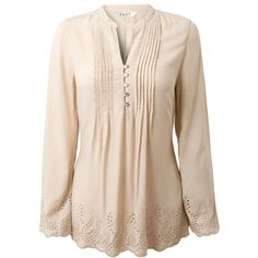 East Embellished trim tunic ($93) ❤ liked on Polyvore
