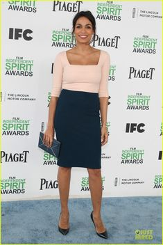 Rosario Dawson & Greta Gerwig: Stunning Presenters at Independent Spirit Awards!: Photo Rosario Dawson keeps it chic while attending the 2014 Film Independent Spirit Awards held at the beach on Saturday (March in Santa Monica, Calif. Rosario Dawson, Spirit Awards, Jennifer Hudson, Kate Hudson, Greta Gerwig, Marisa Miller, Pop Fashion, Fashion Trends, Nicole Richie