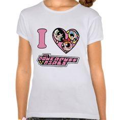 I Heart The Powerpuff Girls T-shirt (more styles available) #cartoon #shirt #cartoonshirt