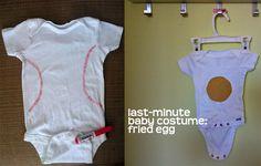 disfraz Carnaval bebé, pelota beisbol y huevo frito