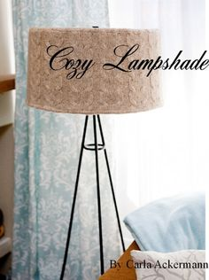 another idea for repurposing an old sweater sweaters projects Recycled Sweater Crafts: Project Sweater Lampshade - Inspired by Family Floor Lamp Makeover, Diy Floor Lamp, Old Sweater Crafts, Recycled Sweaters, Diy Flooring, Diy Recycle, Lamp Shades, Craft Projects, Craft Ideas