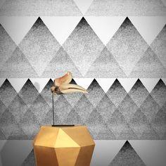 Feathr BAI Wallpaper Monochrome by Tong Ren B&q Wallpaper, Wallpaper Online, Scandinavian Wallpaper, Scandinavian Design, Tong Ren, Application Pattern, Granite Tile, Designer Wallpaper, Painted Paper