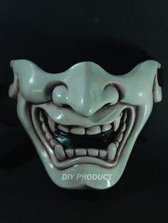 Ivory  Kabuki Warrior Paintball mask by diyproduct on etsy