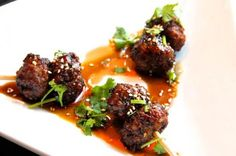 Ginger-Spiced Turkey Meatballs Glazed with Sweet Pineapple Soy Glaze Recipe from 15 Asian-American Thanksgiving Recipes (Slideshow)