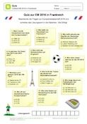 Quiz zur EM 2016 in Frankreich Euro, Map, Free Worksheets, Teaching Materials, Teachers, France, Primary School, Education, Location Map