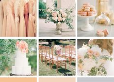 Muted pink, peach and grey wedding colors. The inspiration for our wine country wedding invitation, by Zenadia Design.