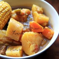 Sancocho (Puerto Rican Beef Stew) >>>> This stew goes back at least 400 hundred years to when the Spaniards brought African slaves over to the island. They would make a huge pot and let it stew all day and have a hearty meal ready after a long day of labor. Over time, sancocho became a popular dish to be enjoyed by everyone. Variations of sancocho can be found throughout the Spanish Caribbean.