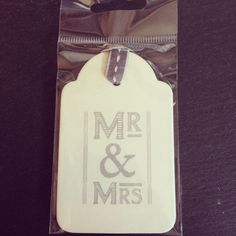 Mr and Mrs Gift Tag - East of India Brand - Comes with Grey and Cream Ribbon to Hang - Great Wedding Gift Idea *** You can get additional details at the image link.