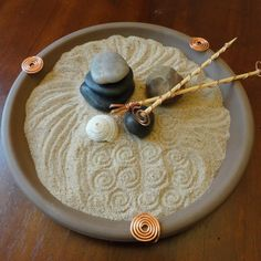 Tabletop Zen Garden Chocolate Brown by EllaAndTess on etsy Need a safe version for table top
