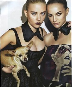 Scarlett Johansson and Natalie Portman photographed by Steven Klein in 2008