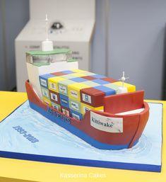 Stupendous 16 Best Cargo Ship Cake Images Cake Boat Cake Ship Birthday Cards Printable Inklcafe Filternl