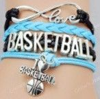 Basketball Bracelet - Light Blue/Black