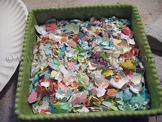 Egg shells used as mosaic tiles... brilliant! How-to included in the link <3