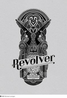 Revolver Whiskey Label on Dropula - The inspirational catalogue