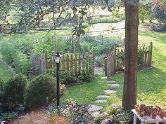 fence around the garden.