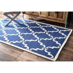 nuLOOM Handmade Luna Marrakesh Trellis Wool Rug (9' x 12') - Overstock™ Shopping - Great Deals on Nuloom 7x9 - 10x14 Rugs