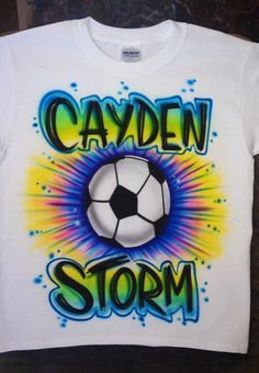 Airbrushed Soccer Any Sport Ball Team T-shirt  Baby Bodysuit