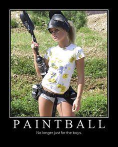 paintball Girls in bikinis playing