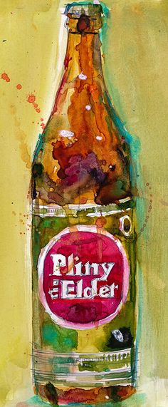 Pliny The Elder Print  Russian River Brewing Company    (Print Size - 8.5 x. 11) and (Print Size - 10 x 20)  ●●●●●●●●●●●●●●●●●●●●●●●●●●●●●●●●  OPTION1