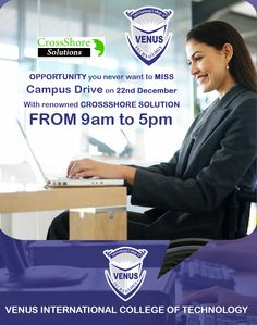 CROSSSHORE Solutions - Campus Drive, ON 22nd Dec, 2015, Tuesday at 09:00 AM–05:00 PM at venus international college of technology