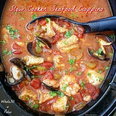 Slow Cooker Seafood Cioppino