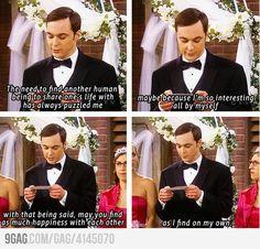 Sheldon's legendary wedding speech