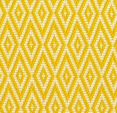 Tissu outdoor Jacquard en fibre synthétique façon grosse toile Basquette (Dedar)