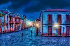 El encanto de la noche por las calles de Teror - Foto de Juan Antonio Perez Roman