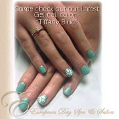 Here S A Gorgeous Sample Of Jessica Stunning Work Tiffany Blue Gel Nails Modeled