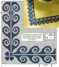 Cross Stitch Boarders, Cross Stitch Letters, Cross Stitch Love, Cross Stitch Designs, Cross Stitching, Embroidery Patterns Free, Crochet Stitches Patterns, Embroidery Stitches, Stitch Patterns