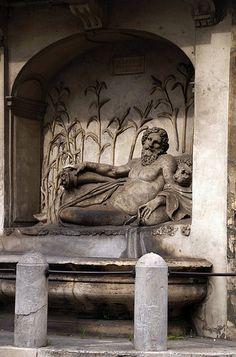 Rom, Via delle Quattro Fontane, Arno-Brunnen (Arno fountain)