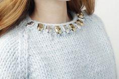 Aurélie Bidermann X Wool and the Gang  #collab #woolandthegang #aureliebidermann #sweater #knitting #jewelry