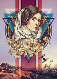 Star Wars: Princess Leia - Star Wars Poster - Ideas of Star Wars Poster - - Star Wars: Princess Leia Star Wars Fan Art, Star Wars Rebellen, Star Wars Gifts, Star Wars Poster, Star Wars Quotes, Star Wars Humor, Star Wars Party, Ewok, Chewbacca
