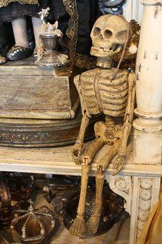 ☠ Antique Marionette Skeleton Puppet 19th C ~ by Paris Couture Antiques ☠