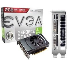EVGA, GeForce GT640 2GB GDRR3 (Catalog Category: Video Cards / Video Cards- PCI-e nVIDIA) by EVGA. $145.13. EVGA, GeForce GT640 2GB GDRR3 (Catalog Category: Video Cards / Video Cards- PCI-e nVIDIA) VGA GT640 DDR3 2G MINIHDMI+D-D+D-I. Base Clock: 901 MHz Memory Clock: 1782 MHz 384 CUDA Cores PCI-E 3.0 2GB GDDR3 128 Bit Memory Bit Width Memory Bandwidth: 28.5 GB/s Texture Fill Rate: 28.8 GT/s. Key Features: NVIDIA SMX Engine NVIDIA Adaptive Vertical Sync NVIDIA Surroun...