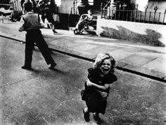 Victim of a bully ? Hoxton Market. 1956
