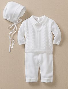 adorable blessing outfit from hanna andersson..expensive though when paying for two of them!