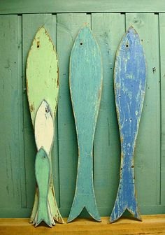Fish Sign Lake Beach House Wall Art One Giant Long Fishy Fishy Fish Growth Chart. $39.00, via Etsy.