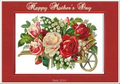 Mother Mother And Father, Happy Mothers Day, Fathers Day, Floral Wreath, Wreaths, Rose, Plants, Decor, Image