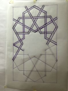 12 fold panel with 12 pointed stars and pathways - bou inanniya madrasa Fez teaching in studio by Traditional Ateliers