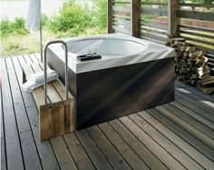 Modern Home Furniture. Make Life Easier On Yourself With These Home Improvement Tips! It's difficult to figure out where to begin when it comes to home improvement, however, it does not need to be. Japanese Soaking Tubs, Japanese Bath, Outdoor Bathtub, Matching Paint Colors, Home Buying Tips, Modern Home Furniture, Soaking Bathtubs, Home Improvement Projects, New Homes